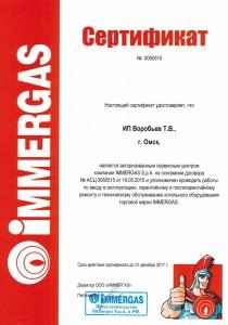 сертификат Immergaz